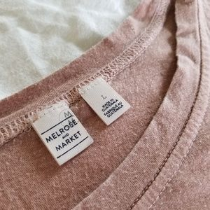 Melrose and Market Tops - Mauve T-Shirt